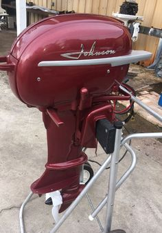 1954 25 hp Johnson For Sale Restored Vintage Antique Outboard. Old Boats, Small Boats, Boat Motors For Sale, Outboard Boat Motors, Boat Restoration, Classic Wooden Boats, Boat Engine, Love Boat, Boat Stuff