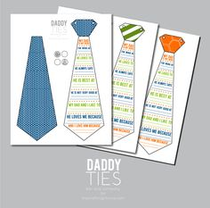 free printable daddy ties at thecraftingchicks.com