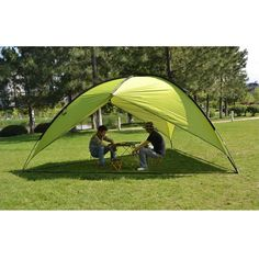 Best outdoor camping tent - Oxking Outdoor 5-8 Person Beach Canopy Tent Large Triangular POP UP Sun Camping Fishing Shelter Garden Party Pergola with Cloth Around Yard Patio Gazebo Family Shade