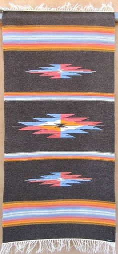 36x60 Chimayo blanket by Valorie Valdez, naturally dyed & undyed wool yarns