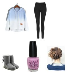 """""""Lazy day"""" by hufflepuff394 ❤ liked on Polyvore featuring Topshop, UGG Australia and OPI"""
