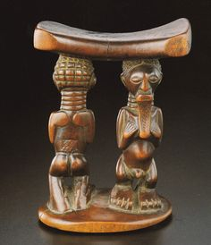 Songye Headrest, DR Congo.