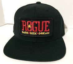 Rogue Dare Risk Dream Brewery Oregon Beer Ale Black Baseball Cap Hat #rogue #beer #cap #hat #oregon