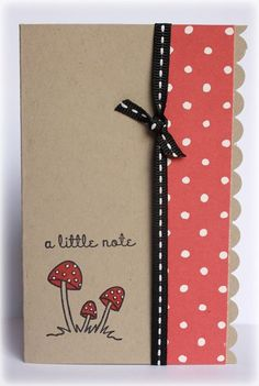 Katie Stilwater mushroom card.
