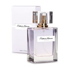This 50 ml Perfume is an ultra feminine fragrance weaved with white flowers on a delicate base of sandalwood and cedar. It envelopes with misty note of vanilla, and refreshes with slight waft of bergamot and blackcurrant. Fm Cosmetics, Cosmetics Industry, Line Shopping, Bergamot, White Flowers, Perfume Bottles, Delicate, Inspiration, Beauty