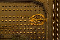 Morocco - Door In Fes by Lindley Johnson