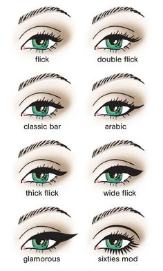 Different Eyeliner Styles
