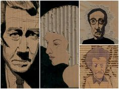 These portraits are made from cardboard on its way to the dumpster! ++ More information at Liz Laribee: Recovering/Uncovering website and ETSY Shop ! Idea sent by Liz Laribee !…