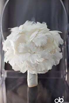 Peony Feather Bridal Bouquet