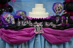 Detalhes da Decoração de Festa Monster High #decoracao #decoration #monsterhigh #monster  #festa #party