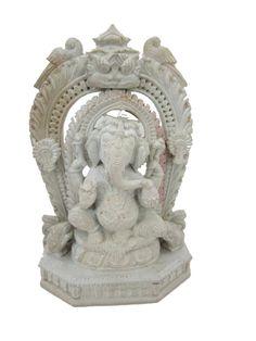 Hindu God Ganesh Statue Spiritual Sculpture 6 by MOGULGALLERY