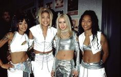 TLC with Christina Aguilera on the 'Fanmail Tour' (2000)