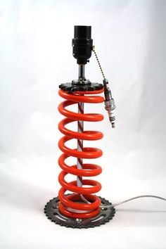 MOTO-cycle Metal Works: New Lamps: MOTO shock spring lamps