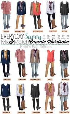 Here is a new board full of casual fall outfits. These pieces mix and match for 15 great outfits that will have you looking great this fall. These items are all casual and comfy so not a true capsule wardrobe but will have you looking great for any casu Casual Fall Outfits, Fall Winter Outfits, Autumn Winter Fashion, Cute Outfits, Target Outfits, Mix Match Outfits, Autumn Casual, Mode Style, Style Me