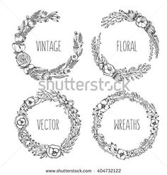 Postcards vintage wreath