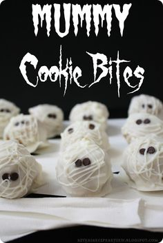 Mummy Cookie Bites : The Recipe Critic.  A fun, easy, delicious Halloween treat!