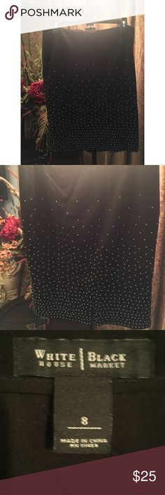 White House Black Market Jeweled Skirt Great condition! No missing stones! Thank you for visiting my closet! White House Black Market Skirts Mini