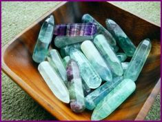 Tumbled  Fluorite is a powerful crystal known for its ability to absorb negative and excessive energy. It helps heal particularly mental  emotional energy such as stress, anxiety, and depression. It can increase ones concentration and self-confidence, which makes it perfect for a learning environment. It can aid in cleansing the aura, encourages positivity and boosts the immune system.