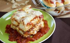Take your Olive Garden breadsticks to the next level with this Breadstick Lasagna recipe.#BreadstickNation