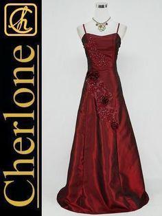 Cherlone Plus Size Satin Burgundy Long Ball Gown Wedding/Evening Dress UK Wedding Evening Gown, Evening Dresses Uk, Evening Dresses For Weddings, Pretty Dresses, Sexy Dresses, Long Dresses, Formal Dresses, Formal Bridesmaids Dresses, Green Lace