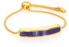Baja 18K Gold-Plated Vermeil & Lapis Bracelet