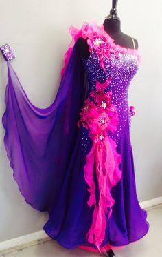 Items similar to Purple Dance Ballroom Dress Ballroom Dance Dresses on Etsy Costume Tribal, Beautiful Dresses, Nice Dresses, Salsa, Ballroom Dance Dresses, Ballroom Dancing, Tango Dress, Dance Outfits, Ladies Dress Design