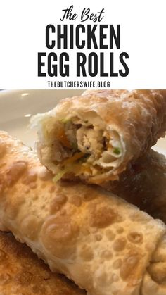 Chicken Egg Rolls are delicious for a snack or a main dish! Chicken Egg Rolls are delicious for a snack or a main dish! Beef Kabob Recipes, Egg Roll Recipes, Appetizer Recipes, Chicken Recipes, Cooking Recipes, Keto Recipes, Appetizer Party, Dinner Recipes, Yummy Appetizers