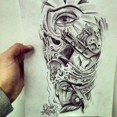 chicano tattoos   MIKERU TATTOO STUDIO: Chicano style.. curro para Luismi