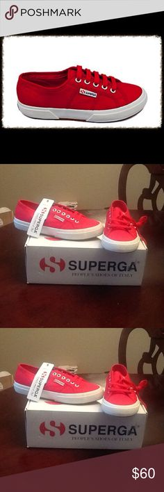 (FINAL PRICE) Superga Red Classic Sneakers Size 8 These are a pair of Superga Red Classic Sneakers in a Size 8. These are cute and stylish and very comfortable. These are New and have never been worn. To keep the price of shipping low I will ship Without the BOX!!! ****Please Reasonable Offers Only**** Superga Shoes Sneakers