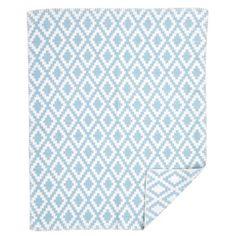 Diamonds Baby Turquoise Blanket