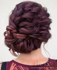 gorgeous curled textured wedding updo ~ we ❤ this! moncheribridals.com