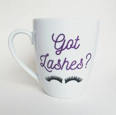 Shop for on Etsy, the place to express your creativity through the buying and selling of handmade and vintage goods. Eyelash Studio, M Beauty, Pretty Mugs, Beautiful Eyelashes, Diy Mugs, Cute Cups, Caking It Up, For Lash, Cool Mugs