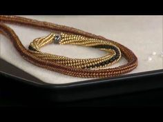 How To -Tubular Herringbone Weave with Gail DeLuca ~ Seed Bead Tutorials