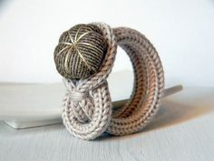 Bracelet tricotin, voir idée bijoux