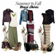 Summer to Fall Maxi Skirts.