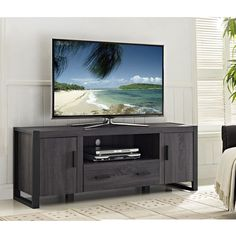 """Urban Blend 60"""" TV Stand (Assorted Colors) - Sam's Club 60 Inch Tv Stand, 60 Tv Stand, Stand Tall, Swivel Tv Stand, Wooden Tv Stands, Tv Stand Console, Kids Room Paint, Flat Panel Tv, Diy Tv"""
