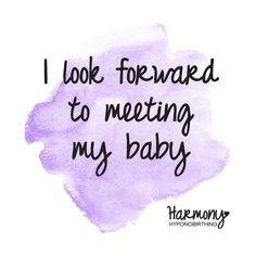 birth affirmation for hypnobirthing