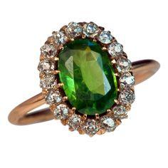 Antique Russian 2 Ct Demantoid Ring