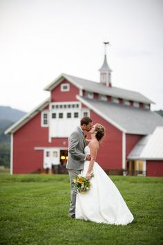 Farm #wedding inspiration. #redbarn (Photo by: Meg Hamilton of Rodeo & Co)