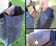 Whether you're deep in the woods fighting for survival or just in your back yard picking berries, there are times when you need an extra set of hands or just a place to stash a few items as you go about your business. To solve this problem I built a Leather & Canvas Fold-able Belt Pouch. This useful piece of gear folds up discretely when not in use and then with the unsnap of a fastener, it unfolds into a roomy pouch perfect for storing or carrying all sorts of things. The best part is t...