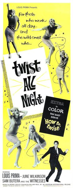 Twist All Night (1961) starring Louis Prima & June Wilkinson