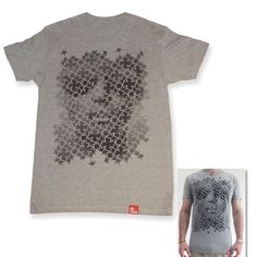 Model on main image is 5 6 and wearing a size Medium Unisex crew neck tee Printed design on front Made from 100 super soft ring spun cotton Wash at Flocking, Print Design, T Shirt, Tees, Lace, Prints, Model, Cotton, How To Wear