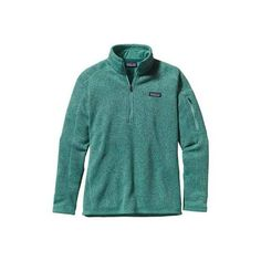 Women's Patagonia Better Sweater 1/4 Zip 25617 - Beryl Green Sweaters ($99) ❤ liked on Polyvore featuring tops, sweaters, green, layered tops, green sweater, zipper top, zip sweater and green top