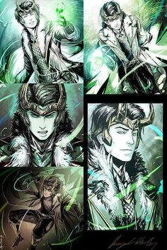 """YA Loki collection by Abz-J-Harding """"Young Avengers"""" Loki (grown up of course), is not to be confused with Tom's Loki in the movies. Still, the new grown up Loki's look and feel was somewhat Tom-inspired. Loki Thor, Loki Laufeyson, Loki Und Sigyn, Loki Art, Tom Hiddleston Loki, Loki God Of Mischief, Marvel Dc Comics, Marvel Avengers, Marvel Fan"""
