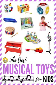 Musical toys are much different than noisy toys. These toys help kids create music, and encourage them to dance and sing along. Ideas for babies, toddlers, preschoolers, and beyond! Best Toddler Toys, Toddler Age, Best Kids Toys, Toddler Gifts, Gifts For Kids, Baby Gifts, Musical Toys For Kids, Help Kids, Baby Store