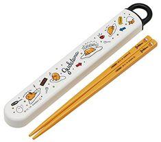 Gudetama Chopsticks & Chopstick Box Set Sliding Type Sanrio Japan F/S Bento Box, Lunch Box, Lazy Egg, Cute Bento, Gadgets, Kawaii Room, Japanese Snacks, Cute Kitchen, Chopsticks