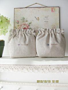 Hand embroidery flex frame purse pouch bag  lavender blue