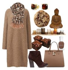 """Golden Brown Comfort"" by fashion-film-fun ❤ liked on Polyvore featuring Dolce&Gabbana, Uniqlo, Deborah Lippmann, Tory Burch, Charlotte Russe, Bling Jewelry and Dot & Bo"