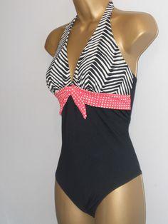 59b86f5337cda LADIES BLACK   WHITE MIX MARKS   SPENCER HALTERNECK SWIMSUIT SIZE 16  SWIMWEAR  fashion  clothing  shoes  accessories  womensclothing  swimwear (ebay  link)