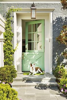 Mint green stable door.